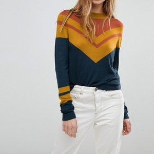 FREE PEOPLE Show Off Your Stripes Retro Top {J35}